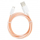 S-What USB to Micro USB Data/Charging Cable for Samsung Galaxy S3 / S4 - Orange + White
