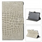 Crocodile Grain Style Protective PU Leather Case for Google Nexus 7 II - Grey