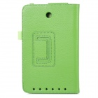 Lychee Grain Style Protective PU Leather Case for Asus ME173X - Green