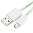 S-What USB to Micro USB Data/Charging Cable for Samsung Galaxy S3 / S4 - Green + White