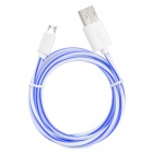S-What USB to Micro USB Data/Charging Cable for Samsung Galaxy S3 / S4 - Blue + White