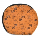Carton Pattern USB 2.0 5V Flannel + Rubber Hand Warmer / Mouse Pad - Brown + Black + Multicolored