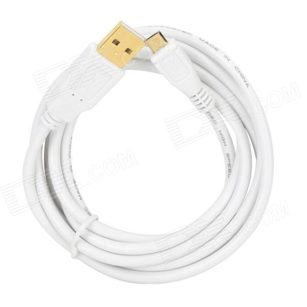 Apower-link D-D052 USB 2.0 Male to Micro USB 5-Pin Charging Data Cable - White (200cm) usb pc to pc smart data link cable white