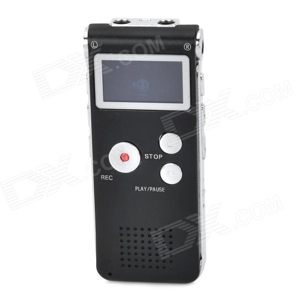 Thchi CM-018 5V 1A Rechargeable MP3 Digital Voice Recorder w/ Speaker - Black (8GB)