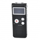 CM-018 5V 1A Rechargeable MP3 Digital Voice Recorder w/ Speaker - Black (8GB)