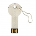 Ourspop U516 Key Style USB 2.0 Flash Driver Disk - Silver (16GB)