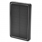 Miniisw SW-4000 Solar Powered 4000mAh External Battery Charger Power Bank for Cell Phone - Black