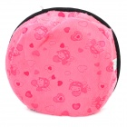 Carton Pattern USB 2.0 5V Flannel + Rubber Hand Warmer / Mouse Pad - Pink + Black