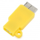 S-What Micro USB Female to Micro USB Male Data / Charging Adapter - Yellow