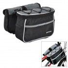 TOPCYCLING Multifunction Bike Top Tube Saddle Bag - Black + Grey