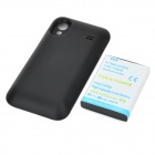 "3.7V ""4200mAh"" Thicken Li-ion Battery w/ Back Case for Samsung Galaxy Ace / s5830 - Black + Blue"