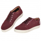 VILOWA NK120517 Pigskin Rubber Casual Shoes for Men - Purple + White (EUR Size 42)