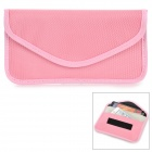 W-298 Cell Phone Double Layer Nylon Pouch - Pink