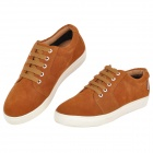 VILOWA Casual Men's Pigskin + Rubber Shoes - Brown + White (EUR Size 41 / Pair)