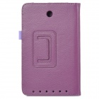 Lychee Grain Style Protective PU Leather Case for Asus ME173X - Purple
