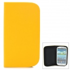 GTcoupe S-020 Seamless Protective PU Leather Flip-Open Case for Samsung Galaxy S3 i9300 - Yellow