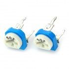 1M 13 Types Adjustable 100ohm Horizontal Resistance Set - Blue + White + Silver (65PCS)
