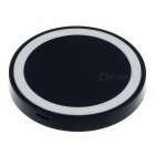 T200 Runde Qi Wireless-Charger w / Anti-Rutsch-Ring - Schwarz + Weiß
