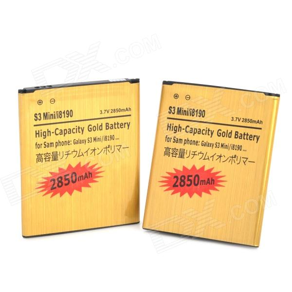 High Capacity 3.7V ''2850mAh'' Replacement Battery for Samsung Galaxy S3 Mini / i8190 / i8160 (2PCS) mallper mp i8160 3 7v 1275mah replacement li ion battery for samsung i8160 i8190 s3 mini