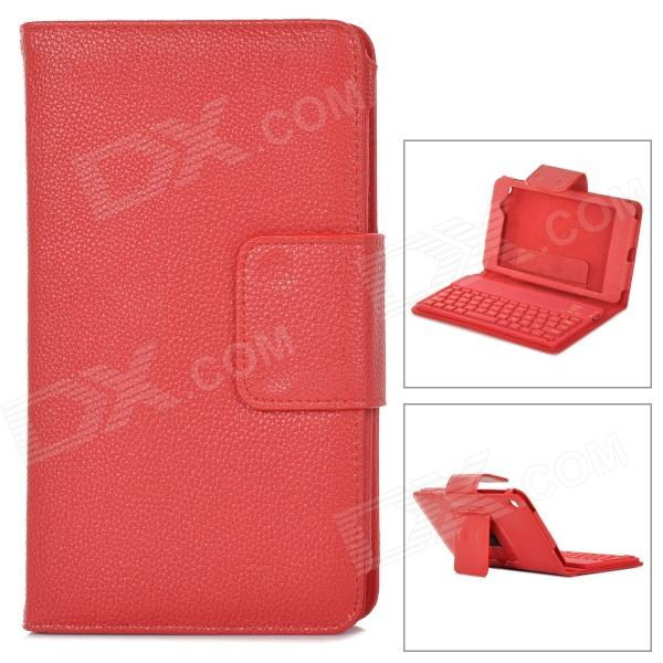 YERJ PU Leather Bluetooth Keyboard Case for Google Nexus 7 Generation II Tablet PC - Red