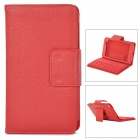YERJ PU-Leder Bluetooth Keyboard Case für Google Nexus 7 Tablet PC Generation II - Rot