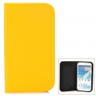GTcoupe S-021 Protective PU Leather Case for Samsung Galaxy Note 2 - Yellow