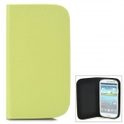 GTcoupe S-020 Seamless Protective PU Leather Flip-Open Case for Samsung Galaxy S3 / i9300 - Green