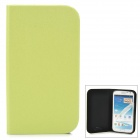 GTcoupe S-021 Protective PU Leather Case for Samsung Galaxy Note 2 - Green