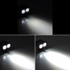 LetterFire 2-LED 1000lm 4-Mode White Bicycle Light - Black (4 x 18650)