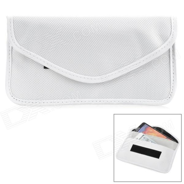 W-298 Stylish Nylon Cell Phone Bag / Change Purse - White