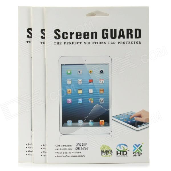Protective Clear Screen Protector for Samsung Galaxy Tab P6200 - Transparent (3 PCS)