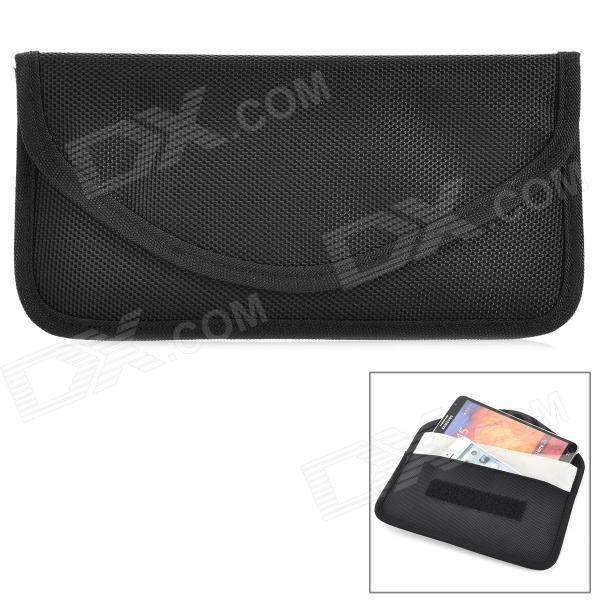 W-298 Stylish Nylon Cell Phone Bag / Change Purse - Black