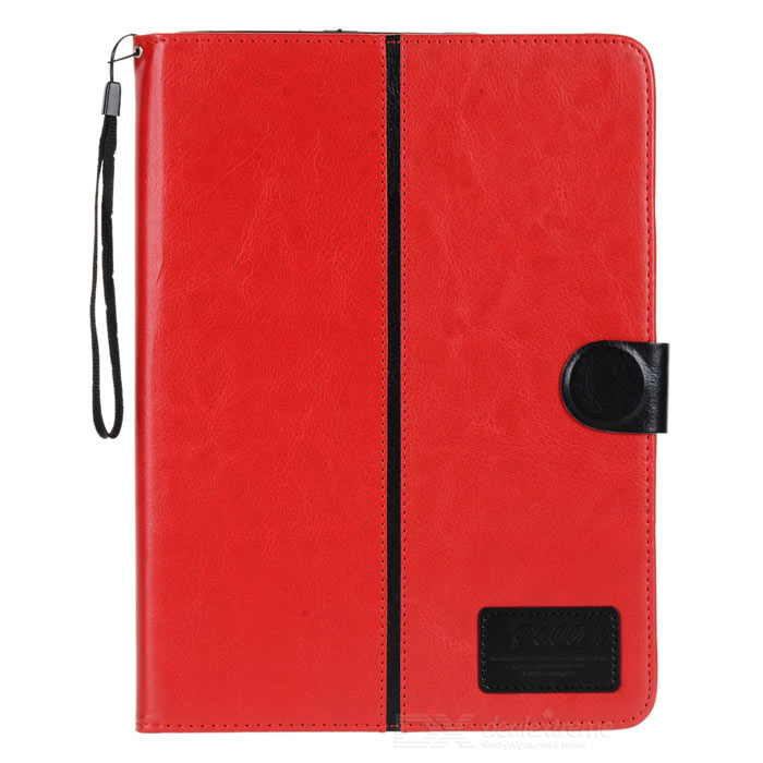 Protective Flip-open PU Holder Case for Samsung Galaxy Note 10.1 P600 - Red + Black