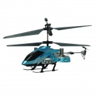 Brilink Z008 Rechargeable 4-CH Indoor R/C Helicopter w/ Gyro - Blue + Black