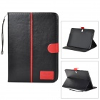 Protective Flip-open PU Case for Samsung Galaxy Note 10.1 P600 - Black + Red