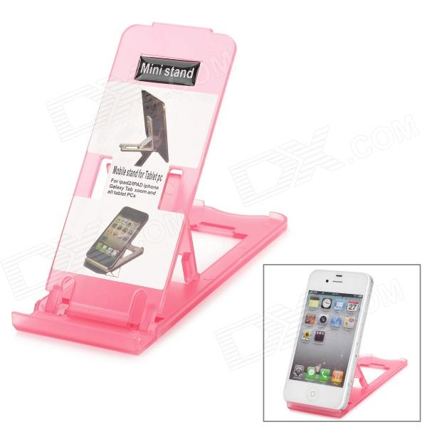 EY-5203 Stylish Adjustable Stand Holder for All Cell Phones - Translucent Deep Pink цена и фото