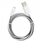 S-What USB to Micro USB Data/Charging Cable for Samsung Galaxy S3 / S4 - Black + White