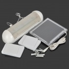 Solar 0.3W 15lm 5-LED Cool White Light w/ Pulling Cable Switch - White + Transparent