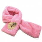 GUTAO Kids Scarves Girls Winter Neck Warmer Bunk Plush Scarves Children Baby scarf - Pink