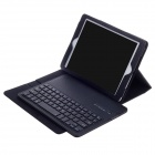 Detachable Dust-free Bluetooth V3.0 64-Key PU Leather Keyboard Case for Ipad AIR - Black