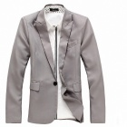 England Style Slim Fit Suit for Spring - Deep Gray (Size XL)
