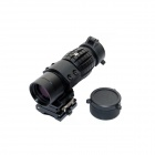 Tactical 3X Magnifier Scope Sight w/ Flip to Side Mount for 20mm Rail - Black