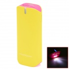 BP 5600mAh Mobile Power Source Bank w/ Stroboscopic LED for Iphone Samsung HTC -Fluorescent Yellow