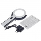 Bureau-type plug-in de MG3B-1 b / ordinateur de poche loupe double usage w / 10 LED - blanc + noir (2 x AA)