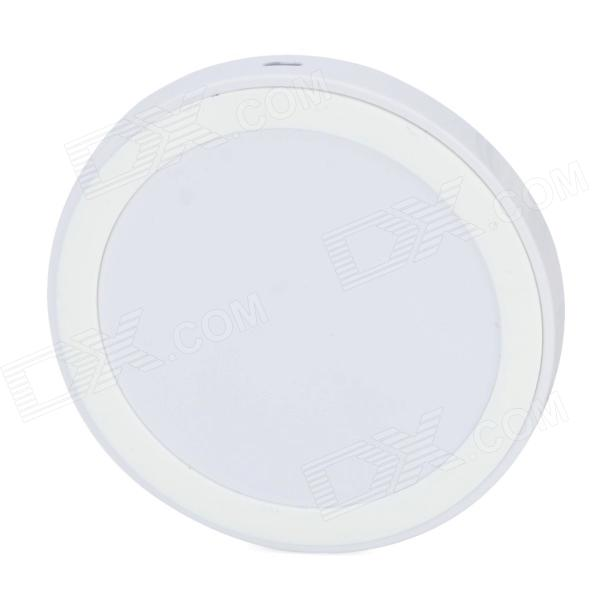 Round Style Wireless Power Charger w/ Anti-slip Ring - White