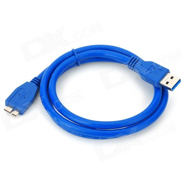 Micro USB 3.0 9pin Charging / Data Cable for Samsung Galaxy Note 3 N9000 / N9005 + More - Blue (1m) super long usb data charging cord charger cable for samsung galaxy tab2 p5100 and note 10 n8000 p7510 p1000 p7300 10ft 3m