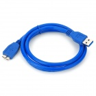 Micro-USB-3.0-9-polig Lade-/ Datenkabel für Samsung Galaxy Note N9000 3 / N9005 + More - Blau (1m)
