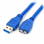 Micro USB 3.0 9pin Charging / Data Cable for Samsung Galaxy Note 3 N9000 / N9005 + More - Blue (1m)