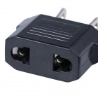 US / EU-kontakt til US Plug AC Power Adapter Plug - Svart (10PCS, 2,5 ~ 250V)
