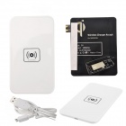 X5 Qi Standard Mobile Wireless Power Charger + Samsung Galaxy S3 Wireless Charger Receiver - White